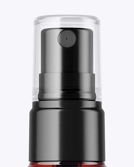 Amber Spray Bottle Mockup