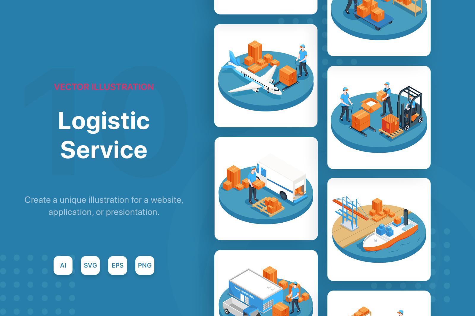 M134_Logistic Service Illustrations