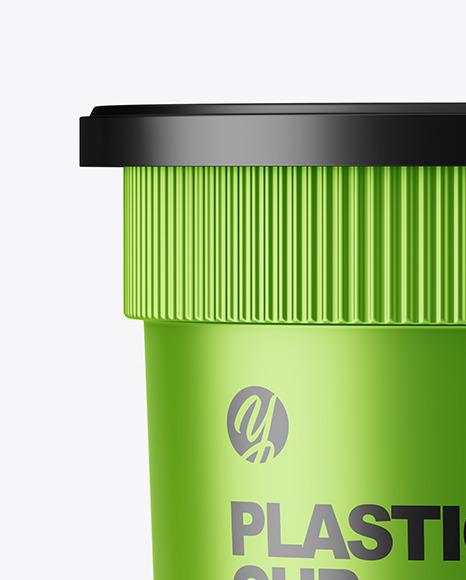 Metallized Plastic Cup Mockup