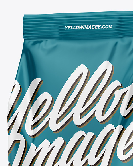 Glossy Food Bag Mockup –  Half Side View