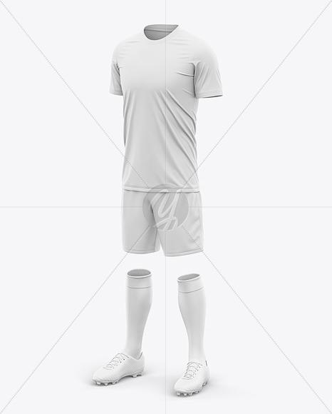 Men's Crew Neck Full Soccer Kit - Front Half-Side View