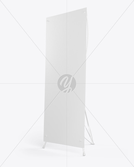 Banner Stand Mockup - Right Halfside View