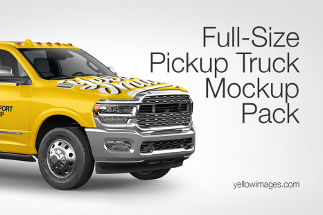 Download Newest Handpicked Sets Of Vehicles On Yellow Images Creative Store PSD Mockup Templates