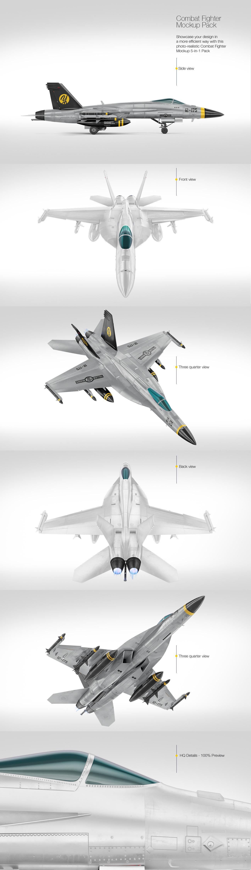 Combat Fighter Mockup Pack