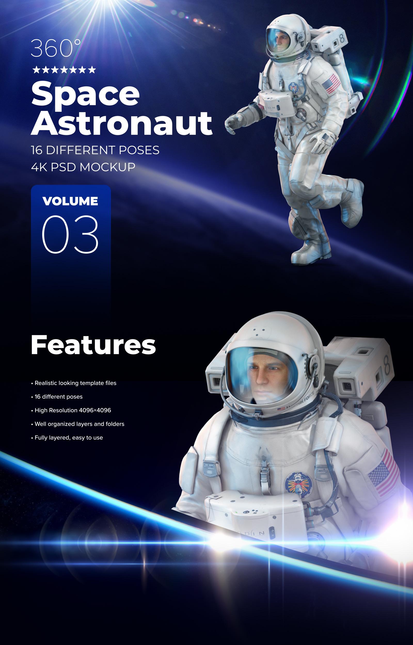 3D Mockup Space Astronaut #03