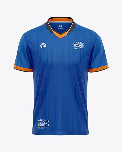 Men's V-Neck eSports Jersey Mockup - Front View - eSport T-shirt