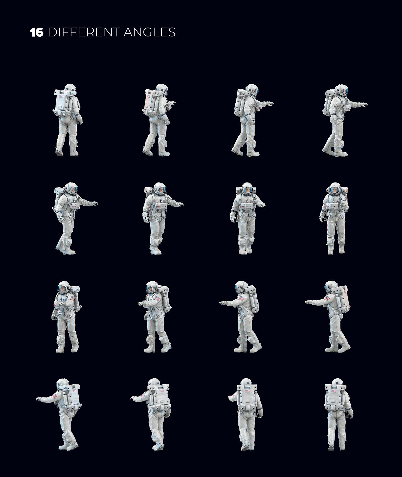 3D Mockup Space Astronaut #3.1