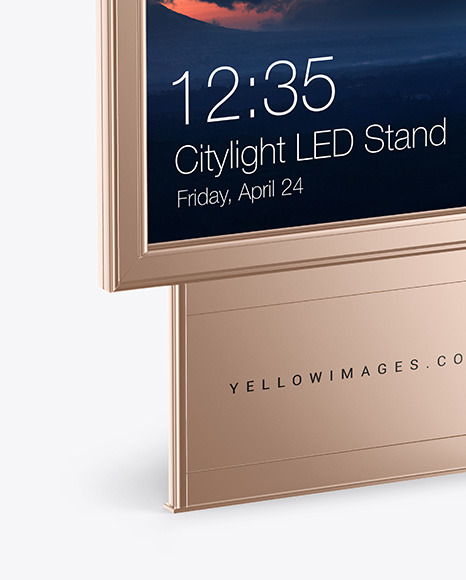 Citylight Metallic LED Stand Mockup