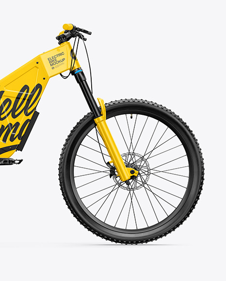 Electric Bike Mockup - Right Side View