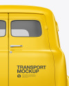 Retro Van Mockup - Back View