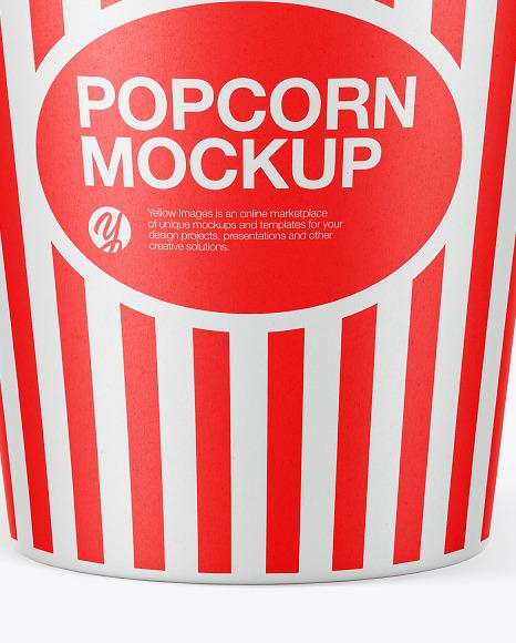Cup Popcorn Mockup