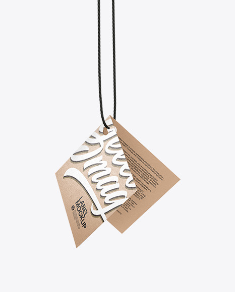 Hanging Kraft Label Mockup
