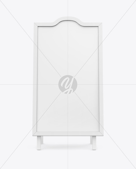 Poster Stand Mockup - Front View