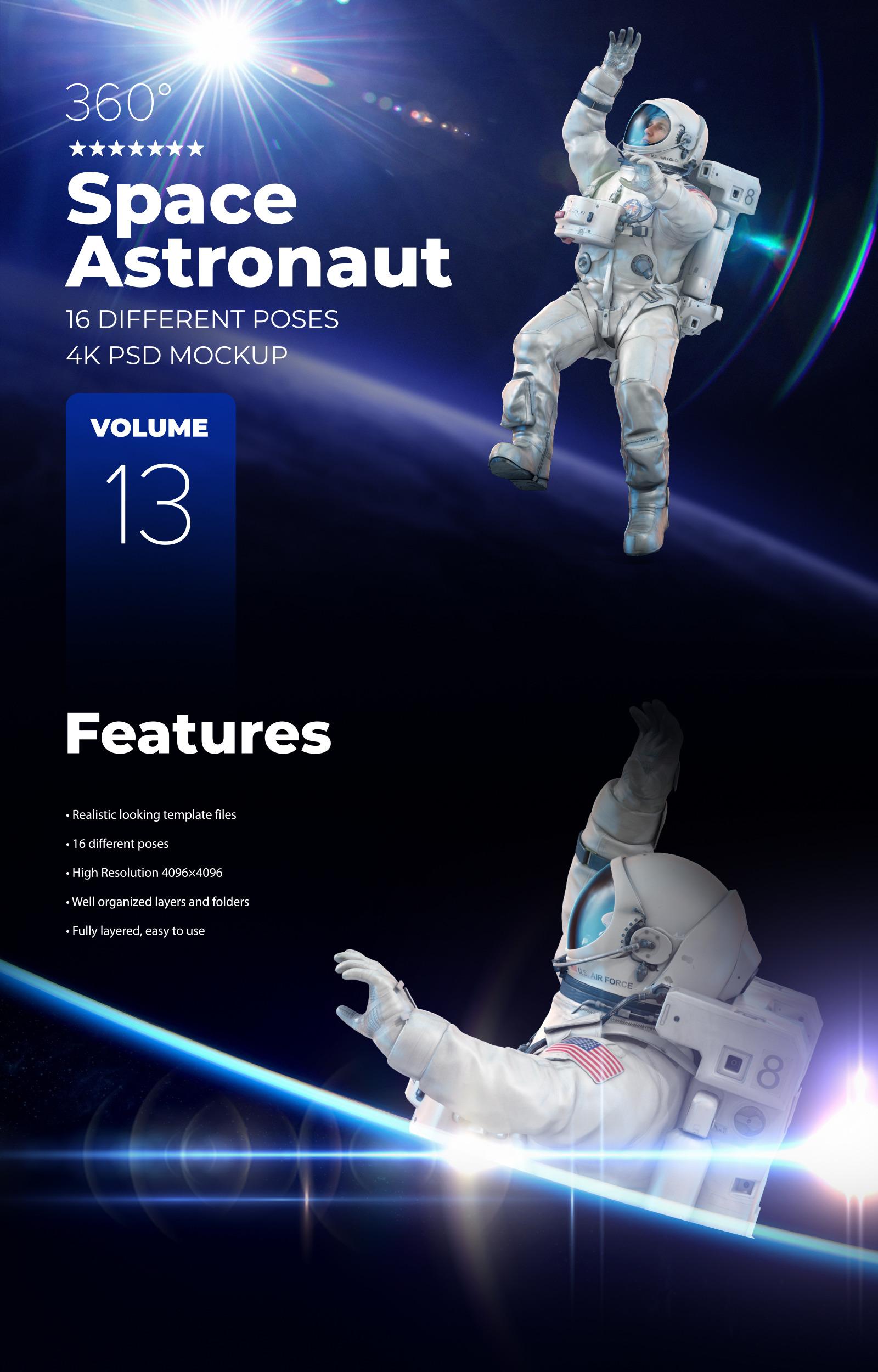 3D Mockup Space Astronaut #13
