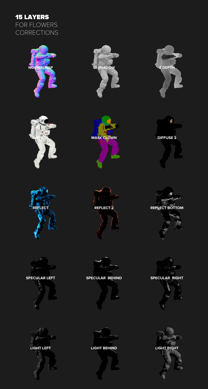 3D Mockup Space Astronaut #14
