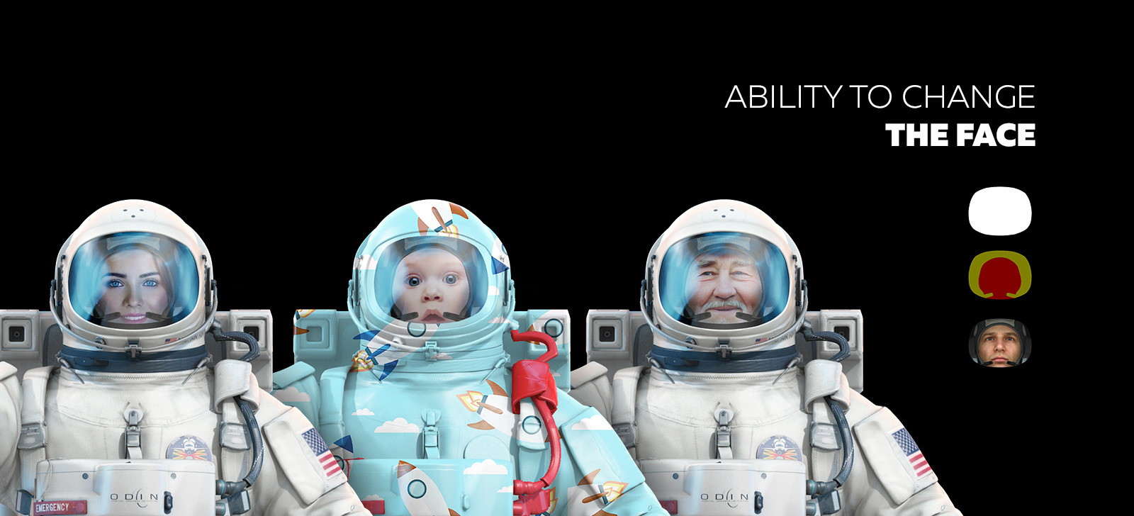 3D Mockup Space Astronaut #12