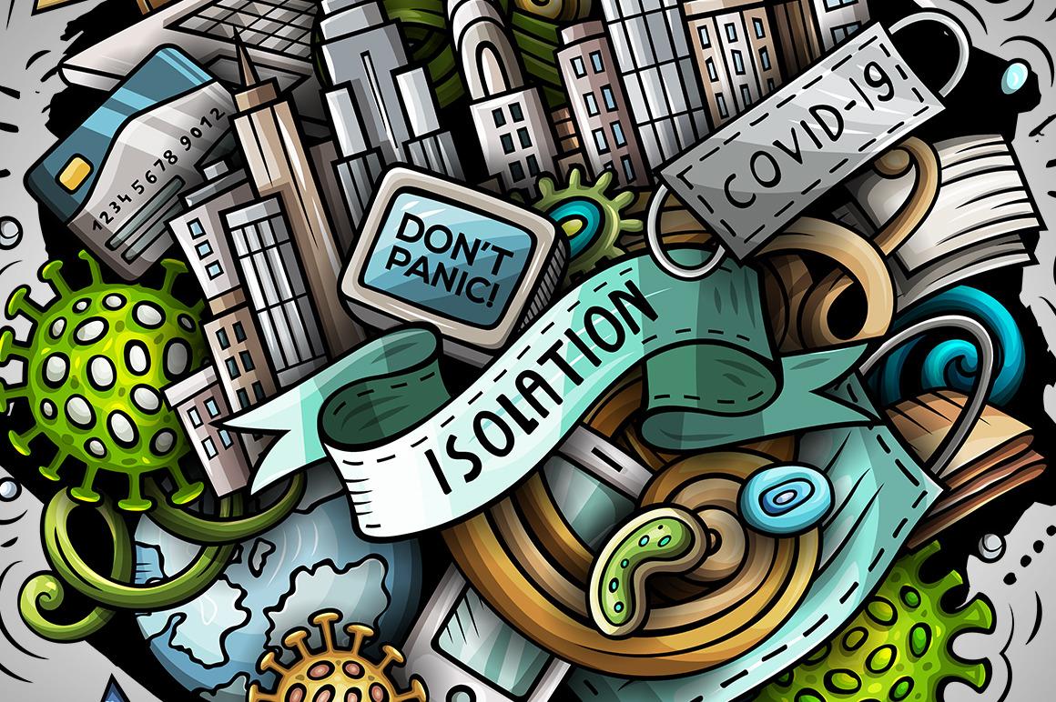 Cartoon vector doodles Isolation Illustration