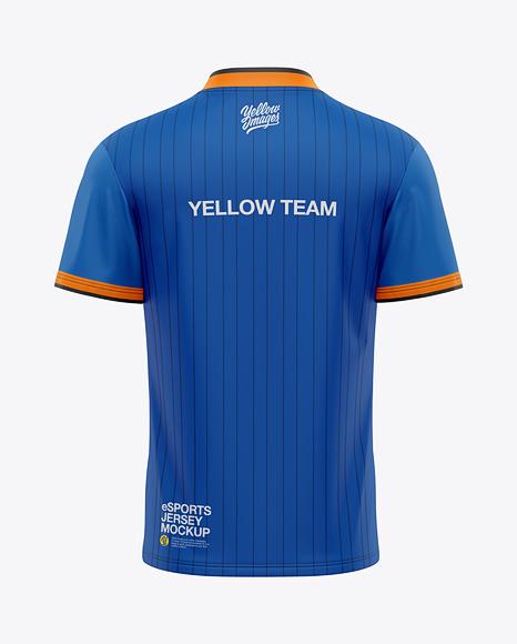 Men's V-Neck eSports Jersey Mockup - Back View - eSport T-shirt
