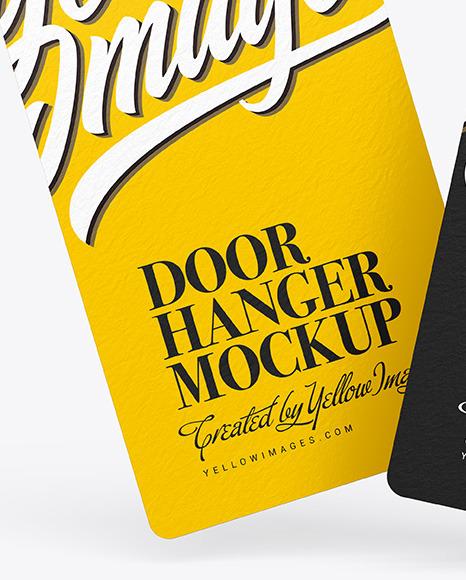 Two Door Hangers Mockup