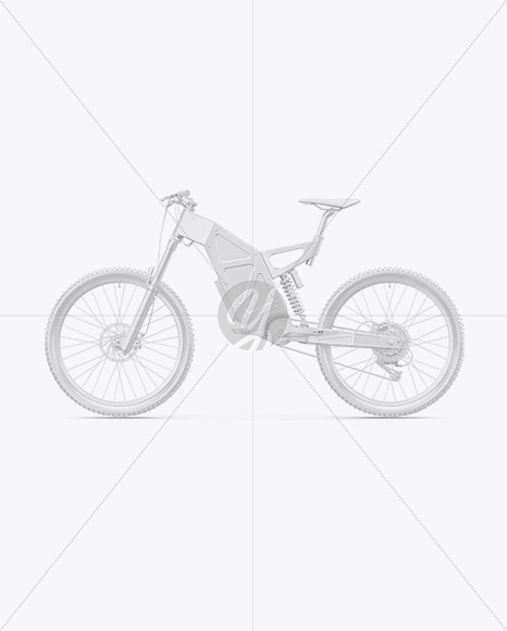 Electric Bike Mockup - Left Side View