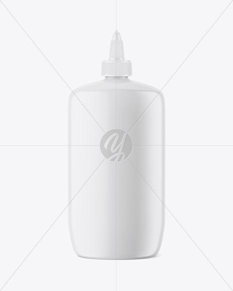 Glossy Glue Bottle Mockup