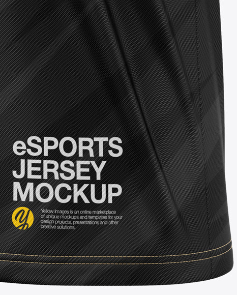 Men's V-Neck eSports Jersey Mockup - Front Half-Side View - eSport T-shirt