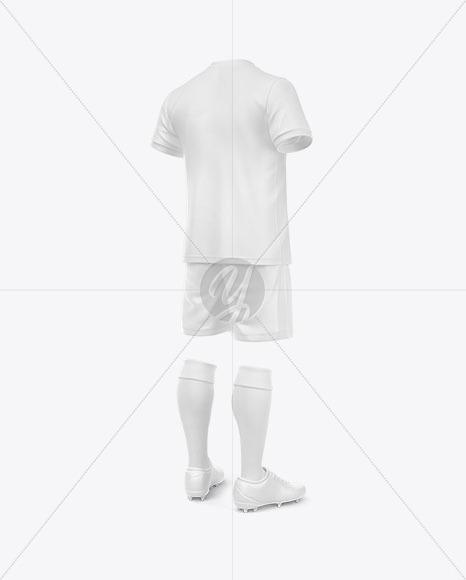 Football Kit Mockup - Half Side View