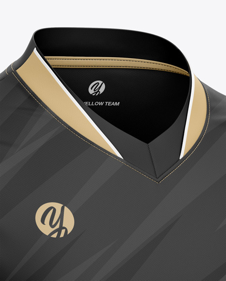 Men's V-Neck eSports Jersey Mockup - Front Half-Side View
