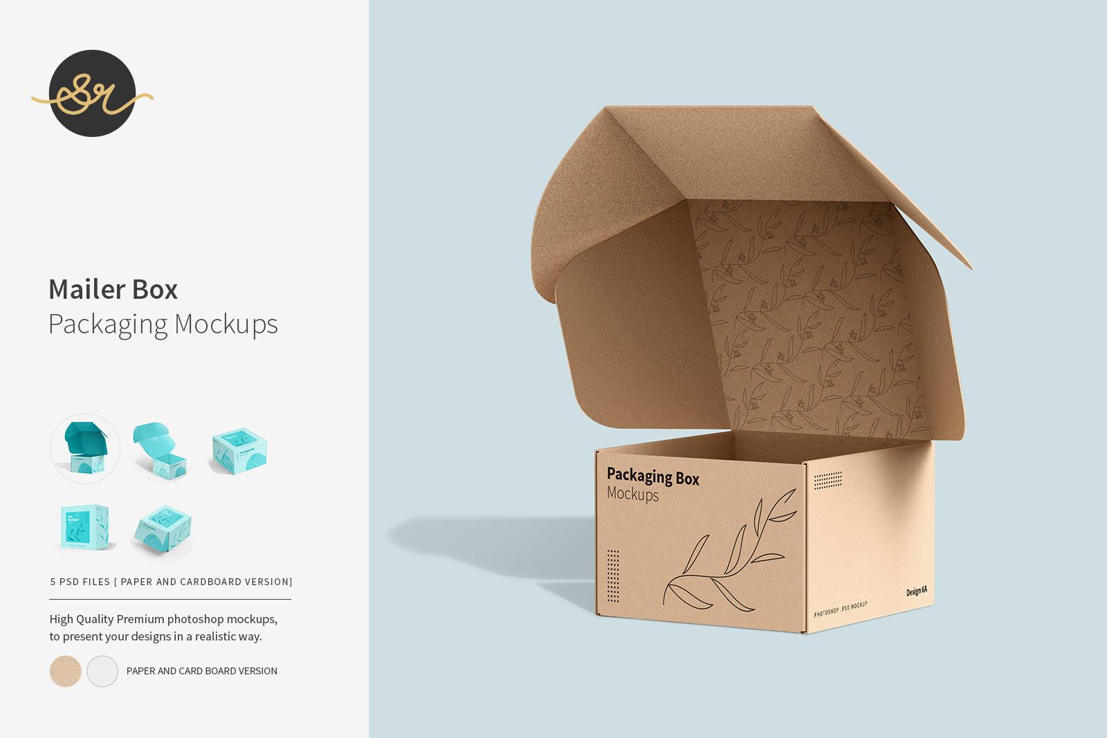 Mailer Box Packaging Mockups