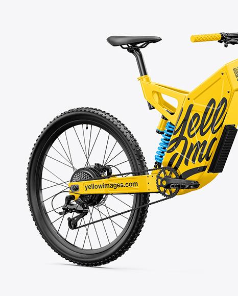 Electric Bike Mockup - Half Side View