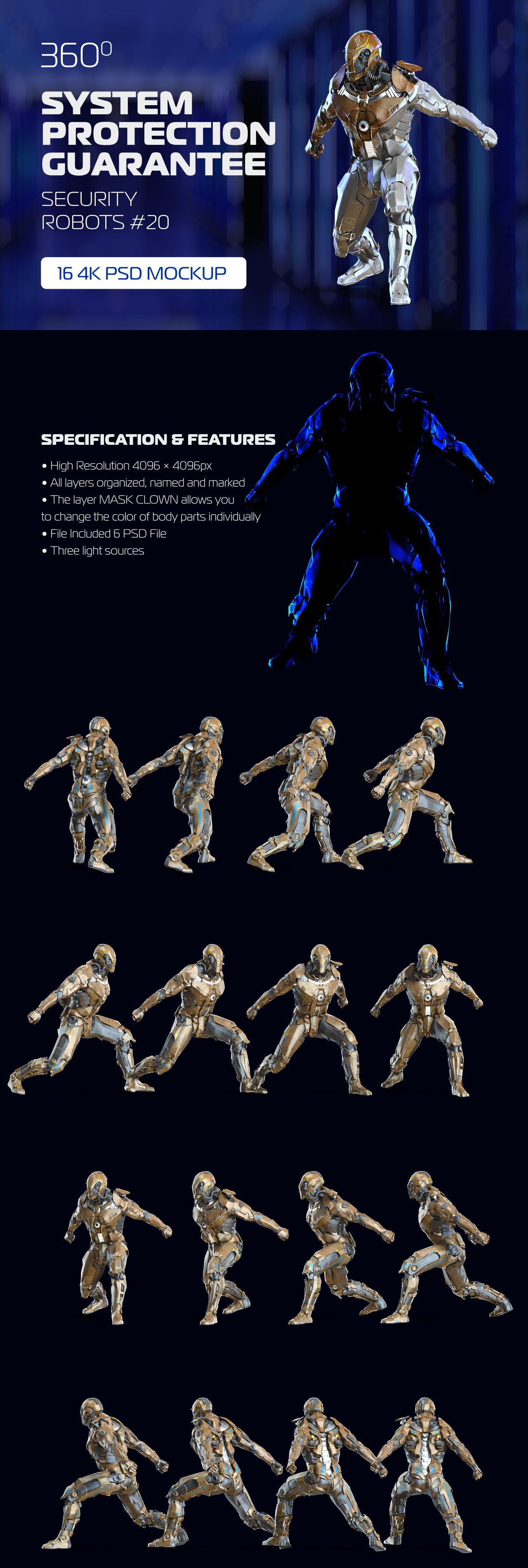 3D Mockup Security Robots #20