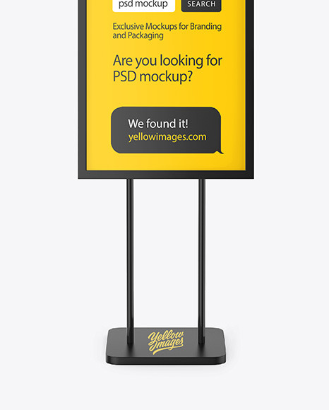 Download Advertising Board Mockup In Outdoor Advertising Mockups On Yellow Images Object Mockups PSD Mockup Templates