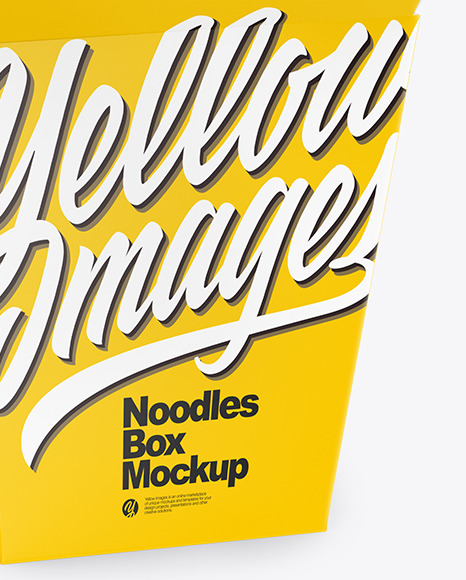 Download Opened Glossy Paper Noodles Box Mockup Half Side View In Box Mockups On Yellow Images Object Mockups Yellowimages Mockups