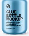 Matte Metallic Glue Bottle Mockup