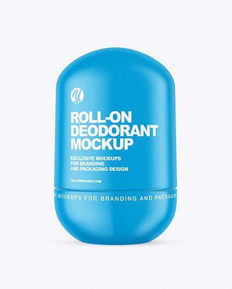 Matte Roll-On Deodorant Mockup