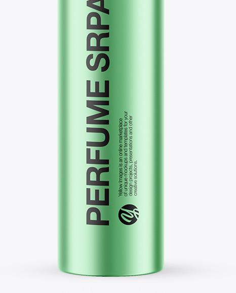 Matte Metallic Perfume Spray Bottle Mockup