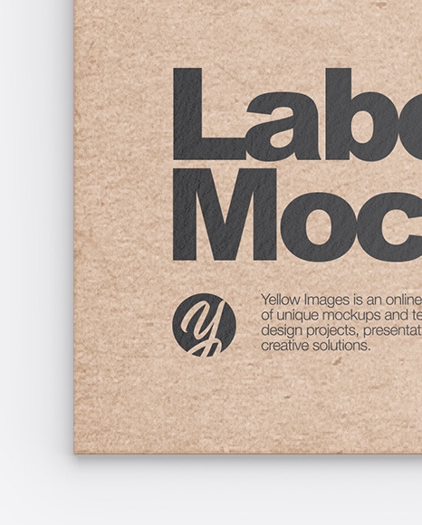 Kraft Clothing Label Mockup