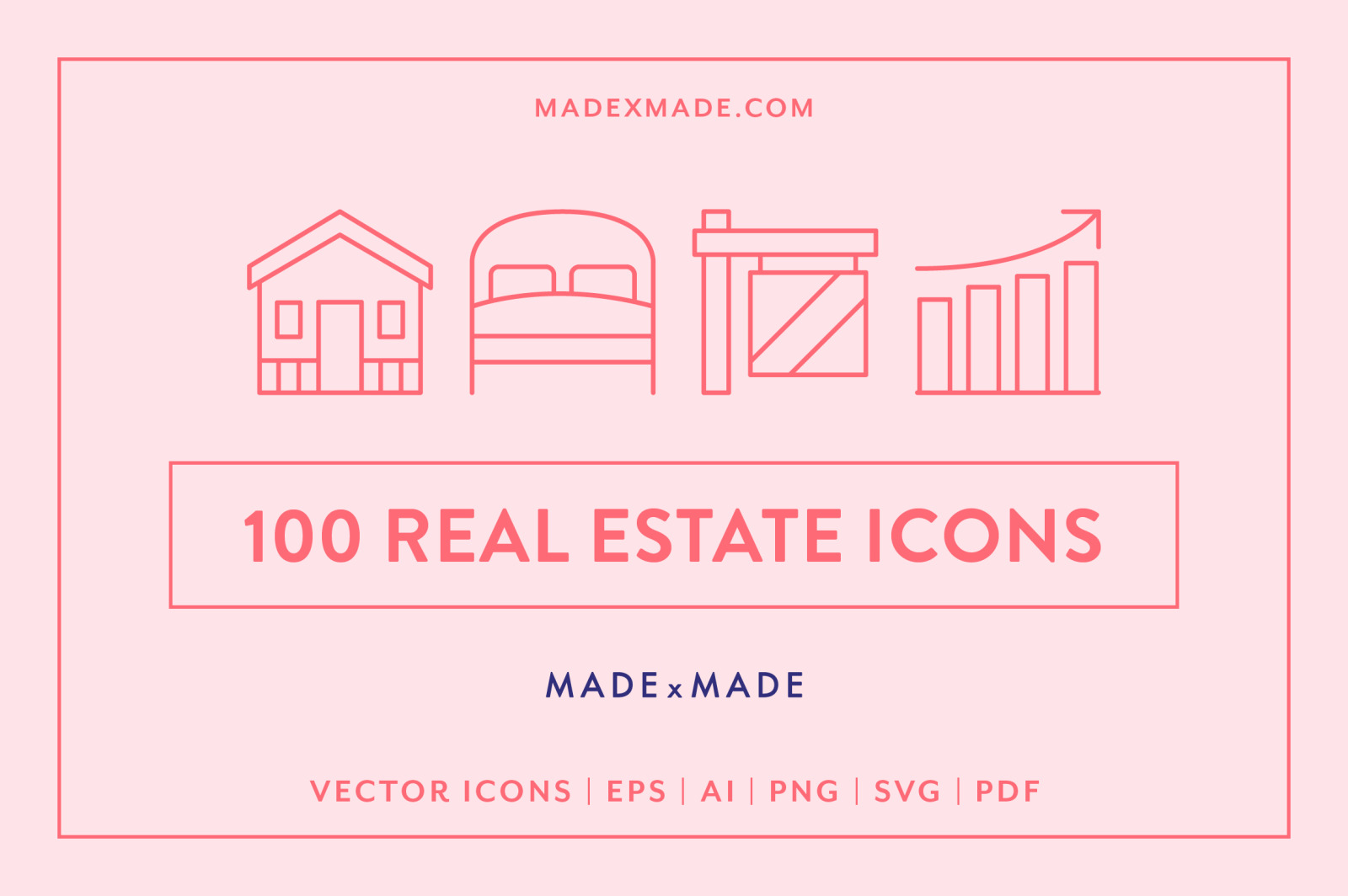 Line Icons – Real Estate