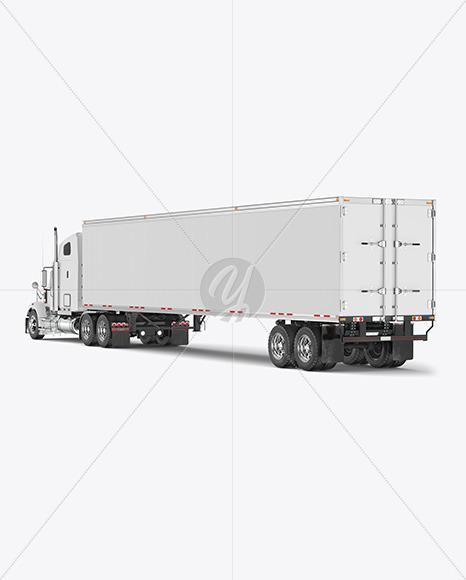 Truck Mockup - Back Half Side View