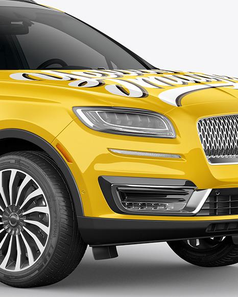 Crossover SUV Mockup – HalfSide View