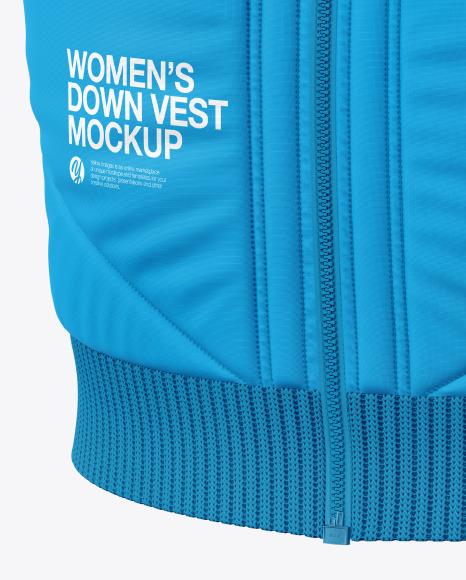 Women's Down Vest Mockup