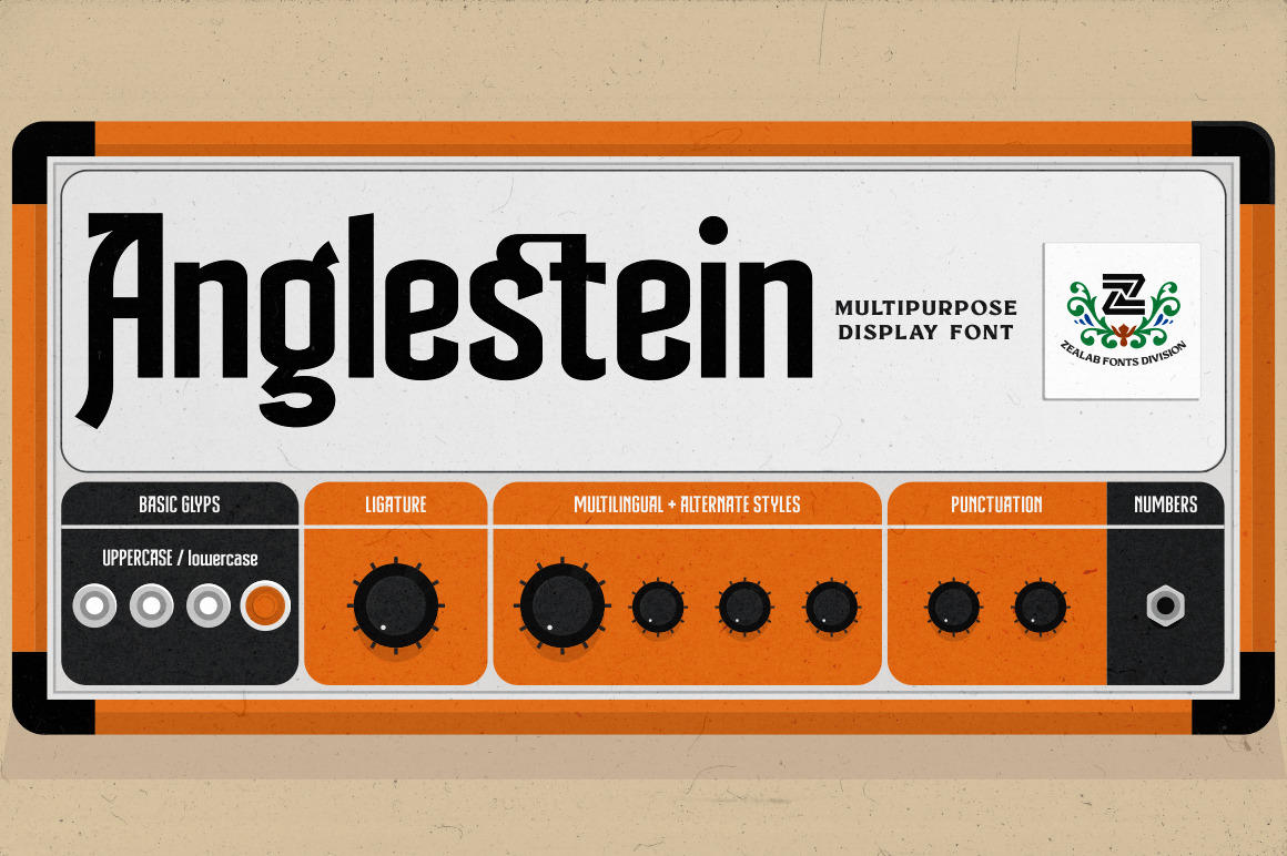 Anglestein - Multipurpose Font