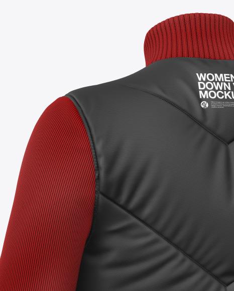 Women's Long Sleeve Down Vest Mockup