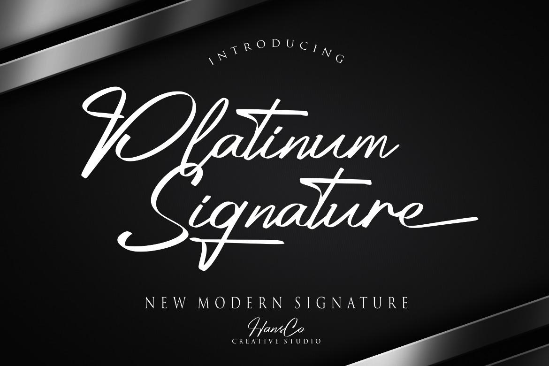 Platinum Signature Font
