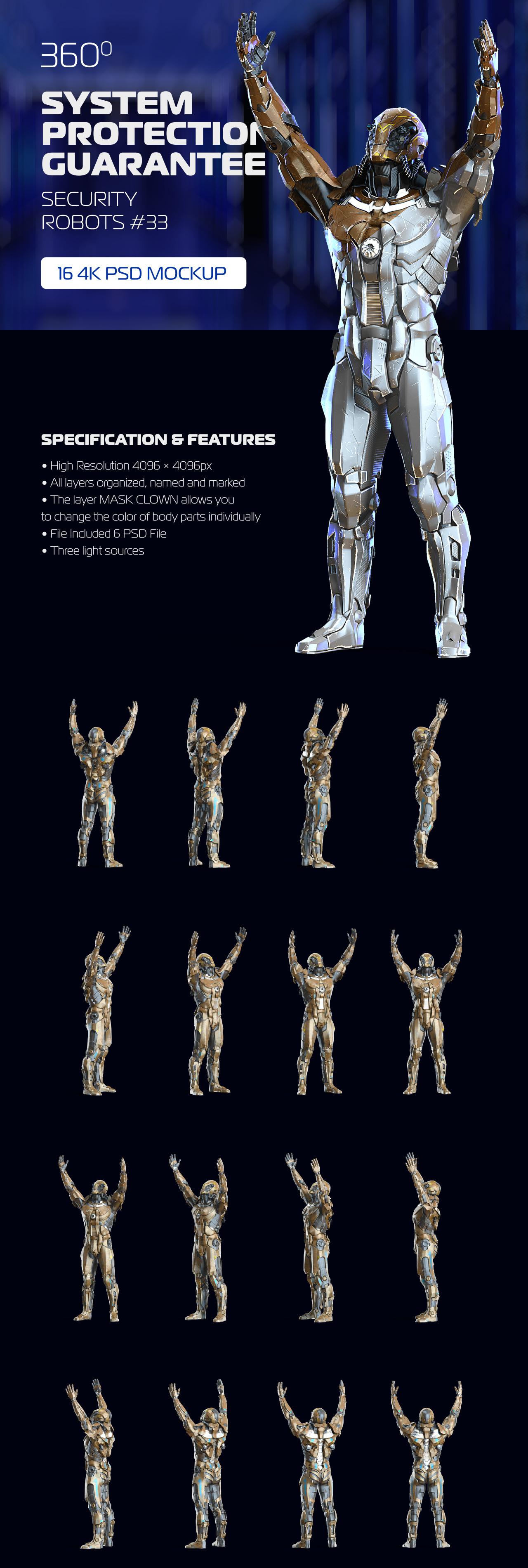 3D Mockup Security Robots #33