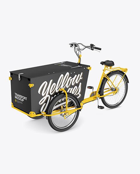 Cargo Bike Mockup - Half Side View