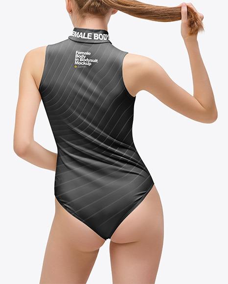 Female Body in Bodysuit Mockup