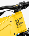 Electric Bike Mockup - Back Half Side View