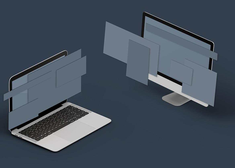 The Screens Website Mockup