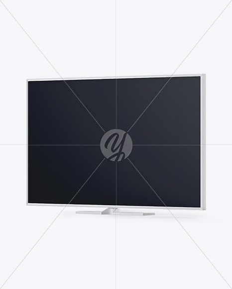 TV Mockup - Half Side View